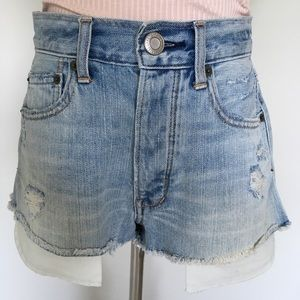 American Eagle Hi Rise Vintage Denim Shorts